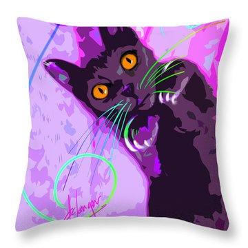 Pop Cat Angel Throw Pillow