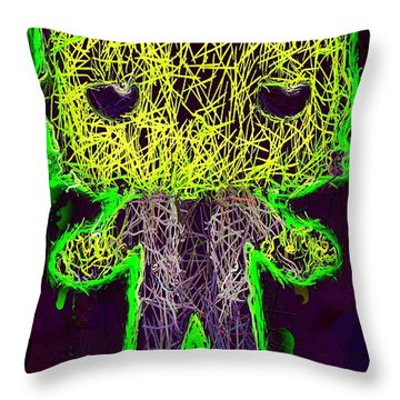 Frankenstein Pop 2 Throw Pillow