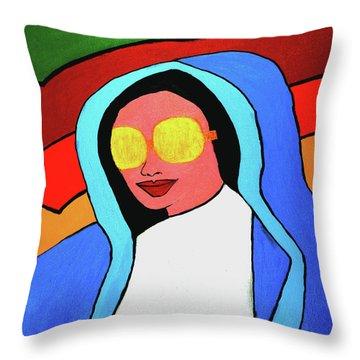Pop Virgin Throw Pillow