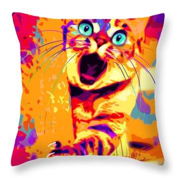 pOpCa PeekaBoots Throw Pillow