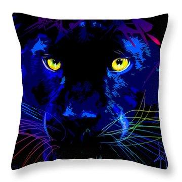 pOpCat Black Panther Throw Pillow