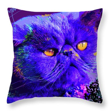 pOpCat Captain Blue Chip Throw Pillow