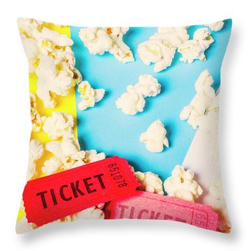 Popcorn Culture Throw Pillow