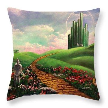 Poppies Will Make Them Sleep Throw Pillow