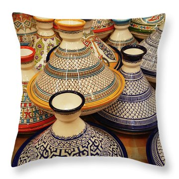 Porcelain Tagine Cookers  Throw Pillow