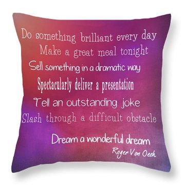 Porch Wisdoms Quote Throw Pillow