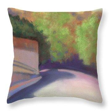 Port Costa Street In Bay Area Throw Pillow