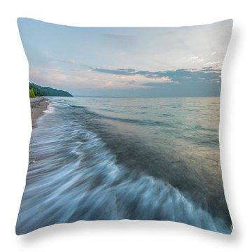 Port Oneida Waves Throw Pillow