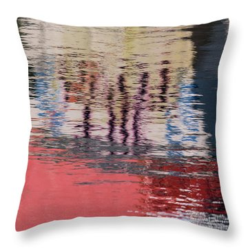 Port Reflections Throw Pillow