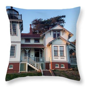 Port San Luis Lighthouse Throw Pillow