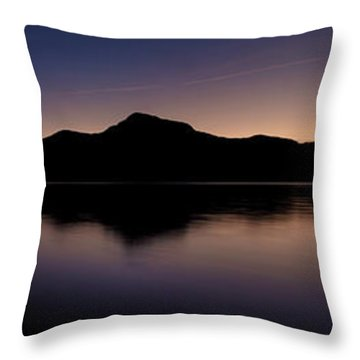 Porteau Cove Panoramic Blue Hour 2 Throw Pillow