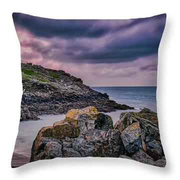 Porthgwidden Dramatic Sky Throw Pillow