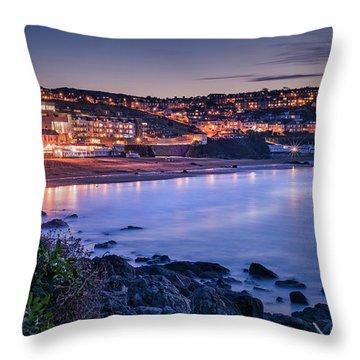 Porthmeor - Long Exposure Throw Pillow