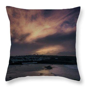 Porthmeor Sunset 4 Throw Pillow