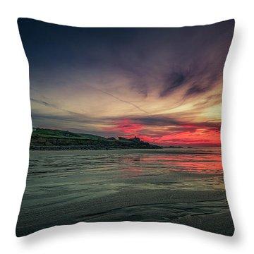 Porthmeor Sunset Version 2 Throw Pillow