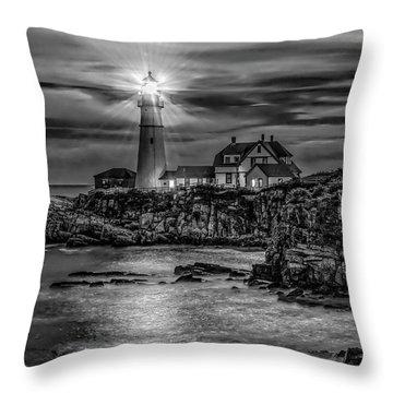 Portland Lighthouse 7363 Throw Pillow