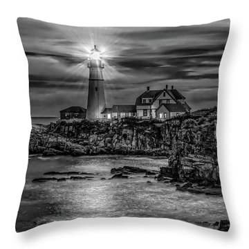 Portland Lighthouse 7363 Throw Pillow