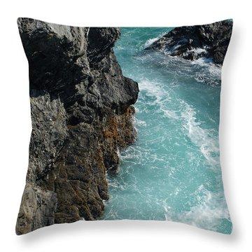 Porto Covo Cliff Views Throw Pillow