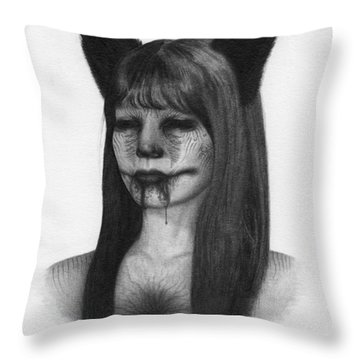 Portrait Of A Kumiho - Artwork Throw Pillow