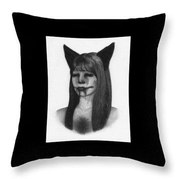 Portrait Of A Kumiho - Artwork Throw Pillow
