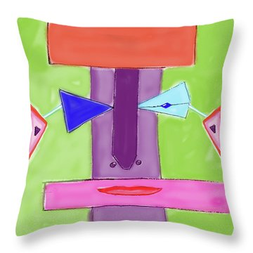 Portrait Of Mom Throw Pillow