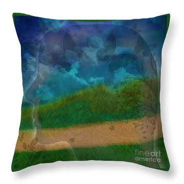 Portrait Of Time Throw Pillow