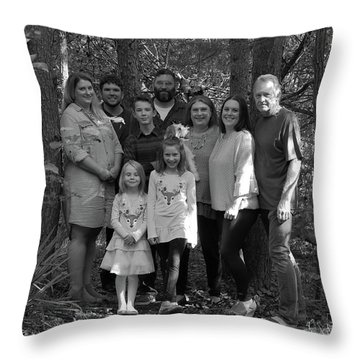 Posing In The Pines Throw Pillow