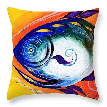 Positive Fish Throw Pillow