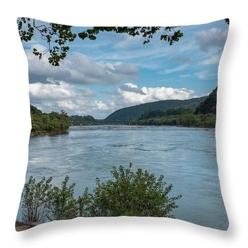 Potomac River At Harper's Ferry Throw Pillow