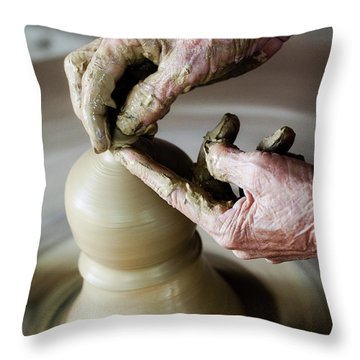 Pottery Wheel Throw Pillow