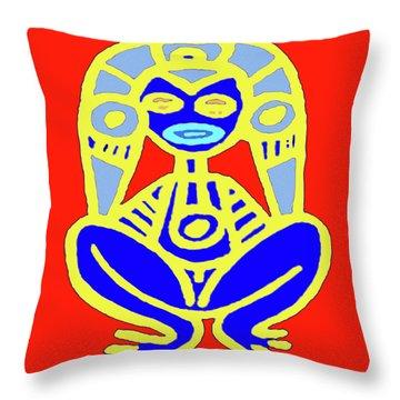 Pourto Rican Native Art Throw Pillow