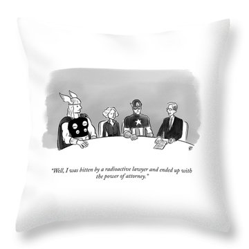 Power Of Attorney Throw Pillow