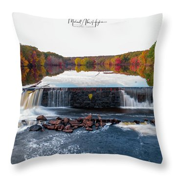 Throw Pillow featuring the photograph Power Of The Shetucket by Michael Hughes