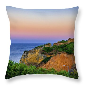 Praia Dona Ana II Throw Pillow