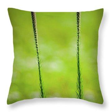 Prairie Blazing Star Throw Pillow