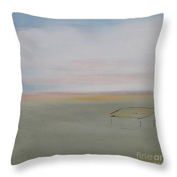 Throw Pillow featuring the painting Prairie Home by Kim Nelson