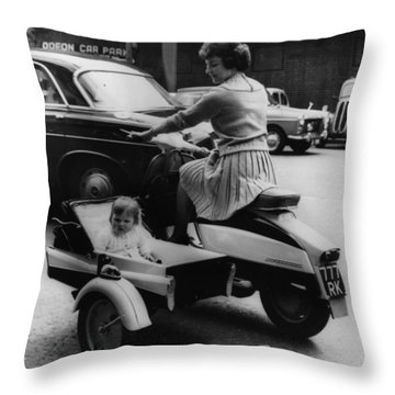 Single Parent Throw Pillows