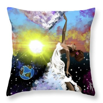 Prayer Before The Sun Sets Throw Pillow