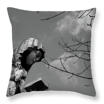 Throw Pillow featuring the photograph Prayer by Edward Lee