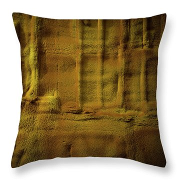 Prehistoric Scene Throw Pillow