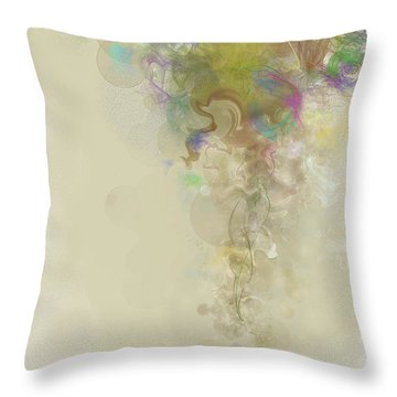 Throw Pillow featuring the digital art Prelude Dreams Of Spring by Gina Harrison