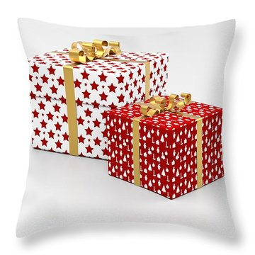 Throw Pillow featuring the photograph Presents For Christmas by Top Wallpapers