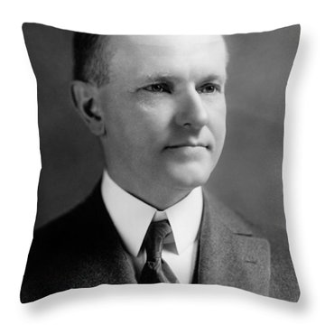 President Calvin Coolidge Portrait - 1923 Throw Pillow