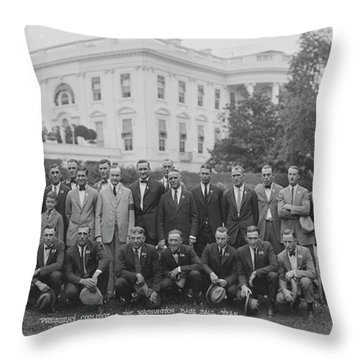 President Coolidge & The Worlds Throw Pillow