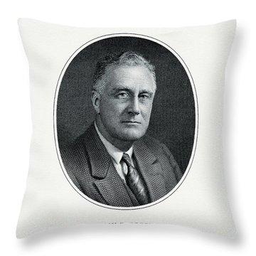 President Franklin D. Roosevelt Throw Pillow