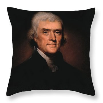 President Thomas Jefferson  Throw Pillow