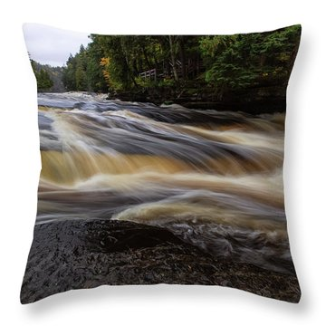 Presque Isle River 4 Throw Pillow