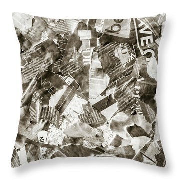 Press Print Parchment Throw Pillow