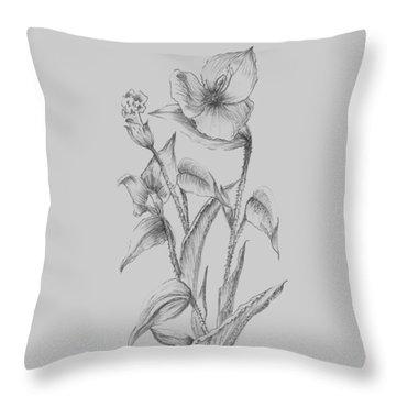 Pretty Flower I Throw Pillow