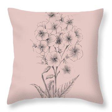 Pretty Pink Flower 3 Throw Pillow